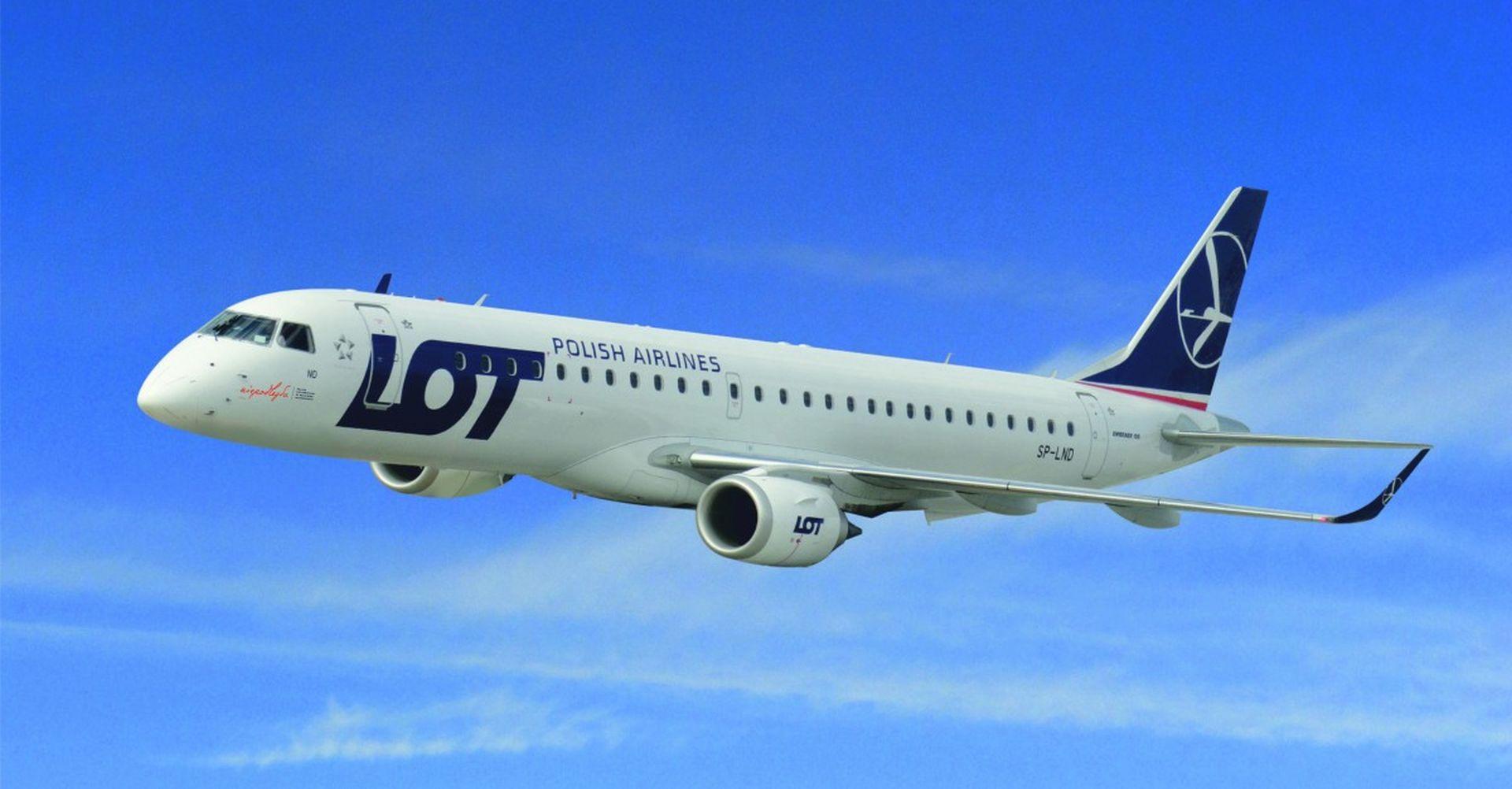 Embraer E195 společnosti LOT. Foto: LOT