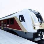 Vizualizace nových elektrických jednotek pro lotyšské železnice