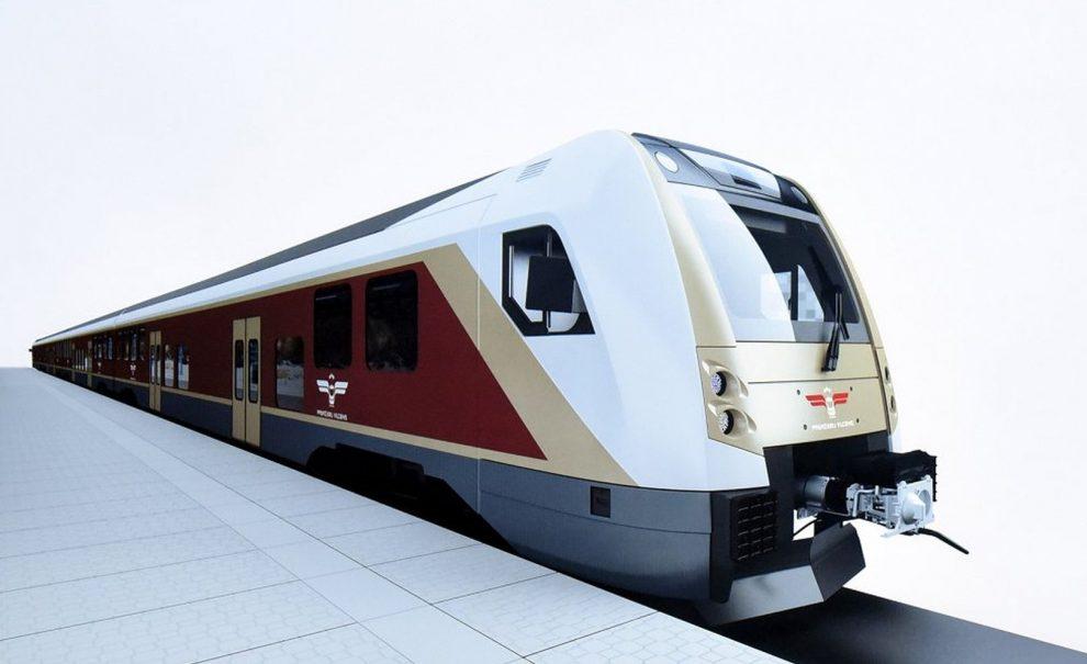 Původní vizualizace nových elektrických jednotek pro lotyšské železnice