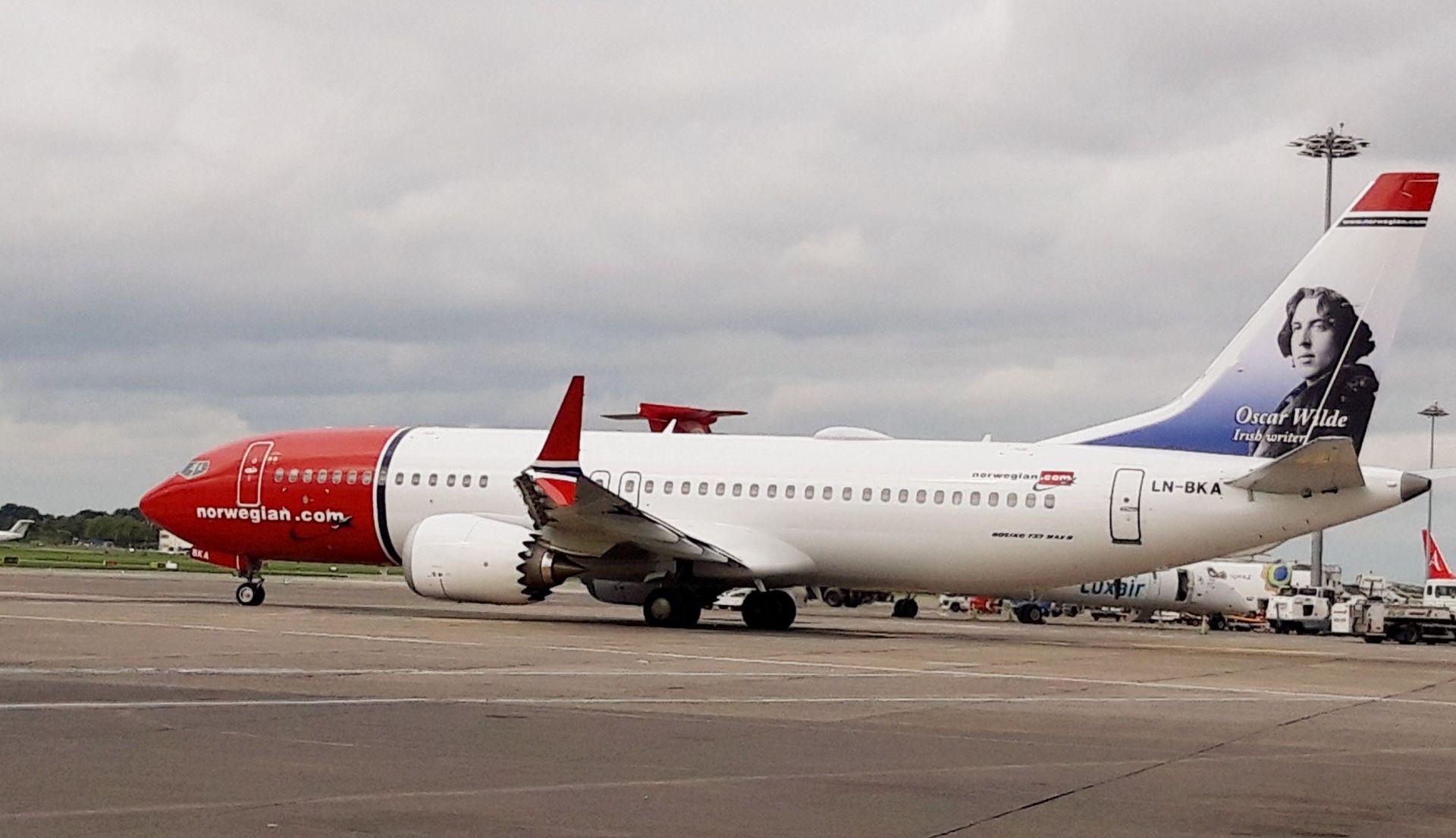 Boeing 737MAX 8 v barvách Norwegian. Foto: Norwegian