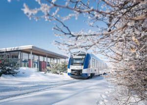 Jednotka Integral společnosti BOB na trati do Füssenu. Foto: BOB