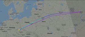 Průběh letu OK190 Praha - Soul s divertem zpět do Prahy na Flightradar24.com