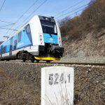 Elektrická jednotka 440 RegioPanter mezi Ústím nad Labem a Děčínem. Foto: České dráhy
