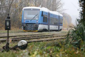 Motorový vůz 841 Stadler RS1 v Humpolci. Foto: České dráhy