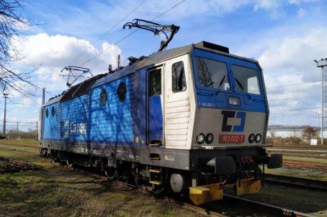 Lokomotiva 163.022 společnosti ČD Cargo bude jako první vybavena zabezpečovačem ETCS. Foto: ČD Cargo