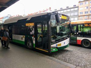 Trolejbus Škoda 27Tr na Palmovce. Foto: Jan Sůra