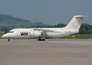 Letadlo Bae 146-200 společnosti WDL Aviation. Foto: Roland Nussbaumer [GFDL (http://www.gnu.org/copyleft/fdl.html) or GFDL (http://www.gnu.org/copyleft/fdl.html)]