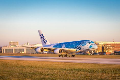 Airbus A380 v barvách All Nippon Airways. Foto: Airbus
