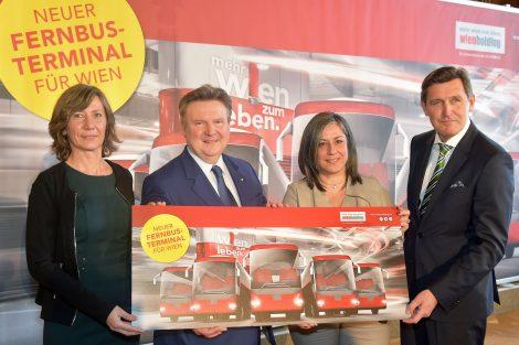 Prezentace nového autobusového nádraží Vídeň. Pramen: Wien Holding
