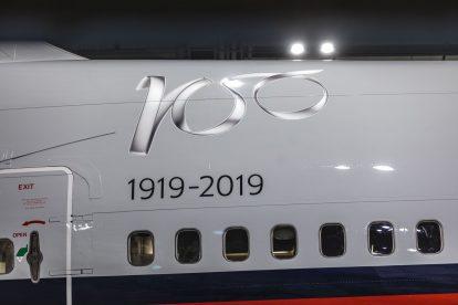 Boeing 747-400 v lakovně v Dublinu. Foto: Chris Bellew / British Airways