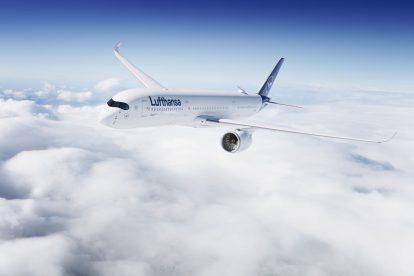 Airbus A350-900 v barvách Lufthansy