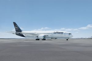 Boeing 787-9 v barvách Lufthansy.