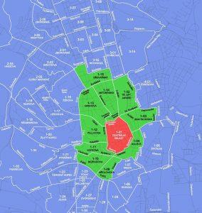 Mapa rezidentního parkování v Brně. Pramen: Město Brno