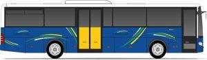 Vizualizace autobusu v barvách Plzeňského kraje. Foto: Plzeňský kraj