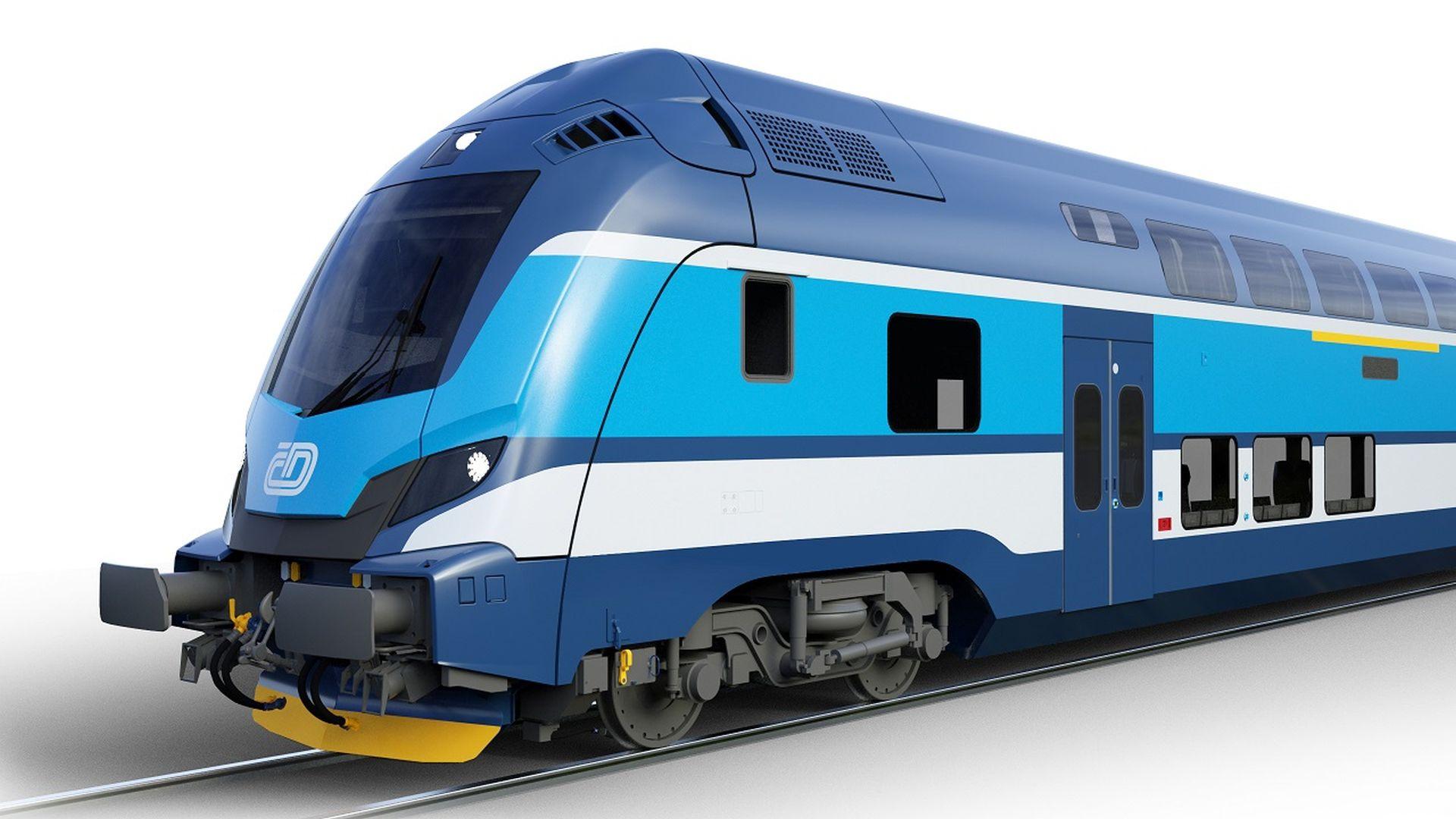 Push-pull souprava vychází z designu pro Deutsche Bahn. Foto: České dráhy