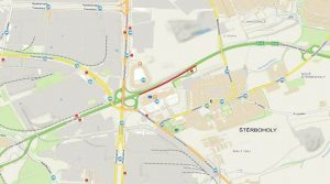 Mapa omezení na Štěrboholské spojce. Foto: TSK Praha