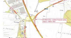 Trasa nové větve napojení dálnice D8 na silnici I/9. Foto: ŘSD