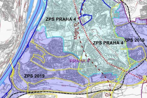 Chystané rozšíření zón placeného stání na Praze 4.