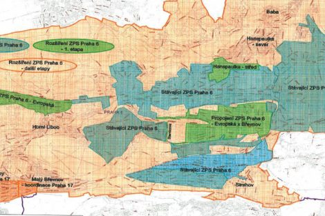 Chystané rozšíření zón placeného stání na Praze 6 (zelená barva)