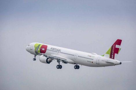 Odlet prvního A321LR v barvách TAP Air Portugal. Foto: Airbus