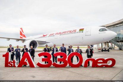 Předávací ceremoniál pro první A330neo v barvách Air Mauritius. Foto: Airbus