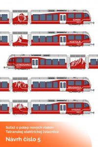 Soutěž o polep vlaků TEŽ - návrh 5