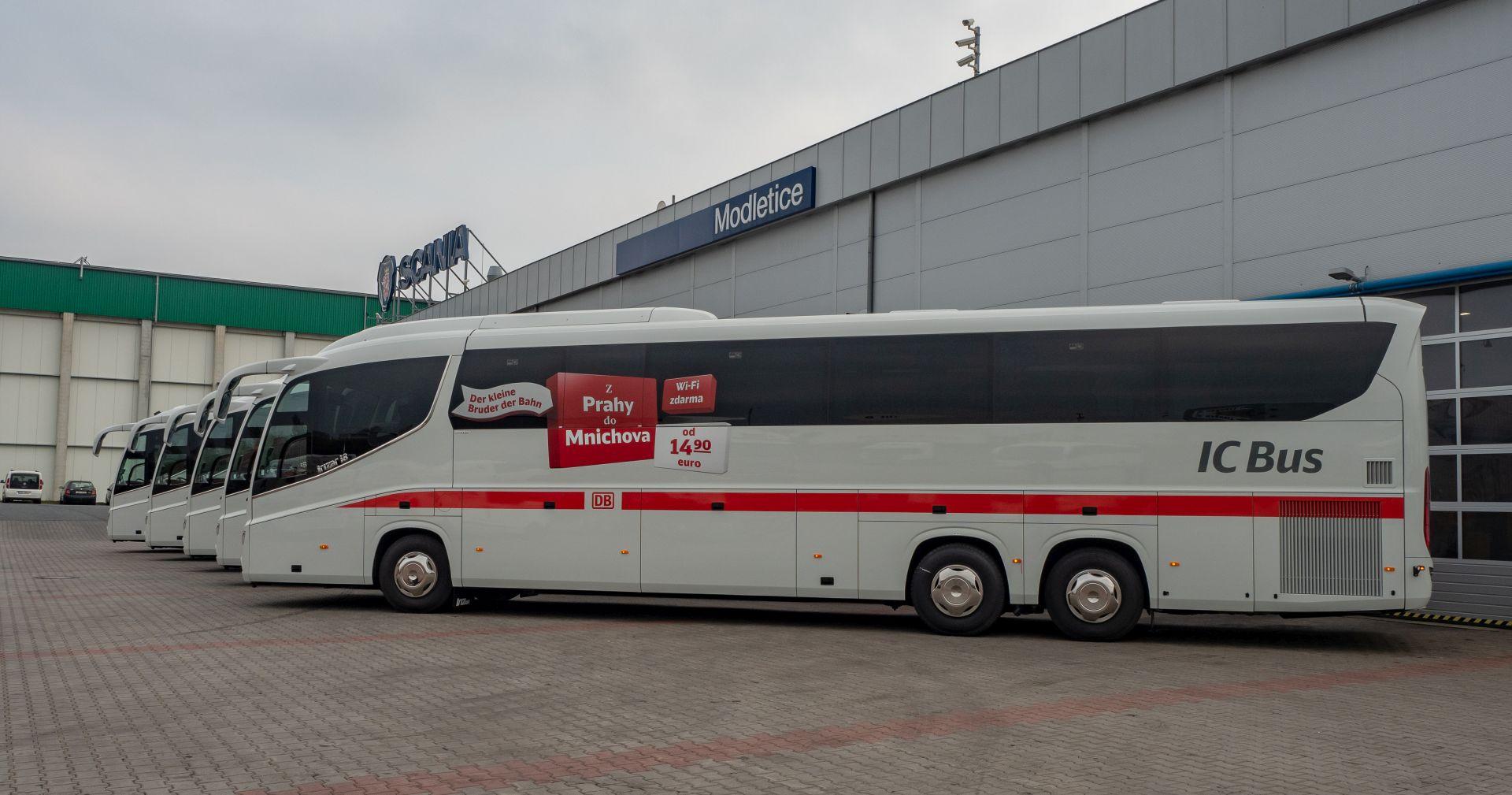 Nové autobusy Student agency pro provoz na linkách DB IC BUS. Foto: Student agency