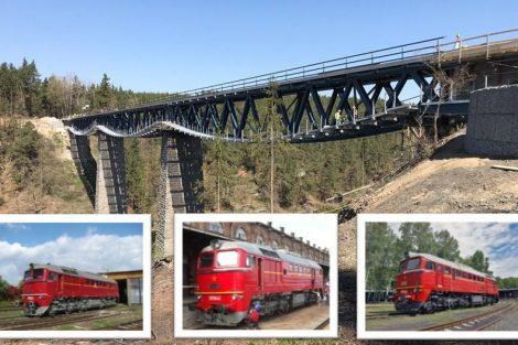 Nový most přes nádrž Hracholusky otestují sergeje. Pramen: FB SŽDC