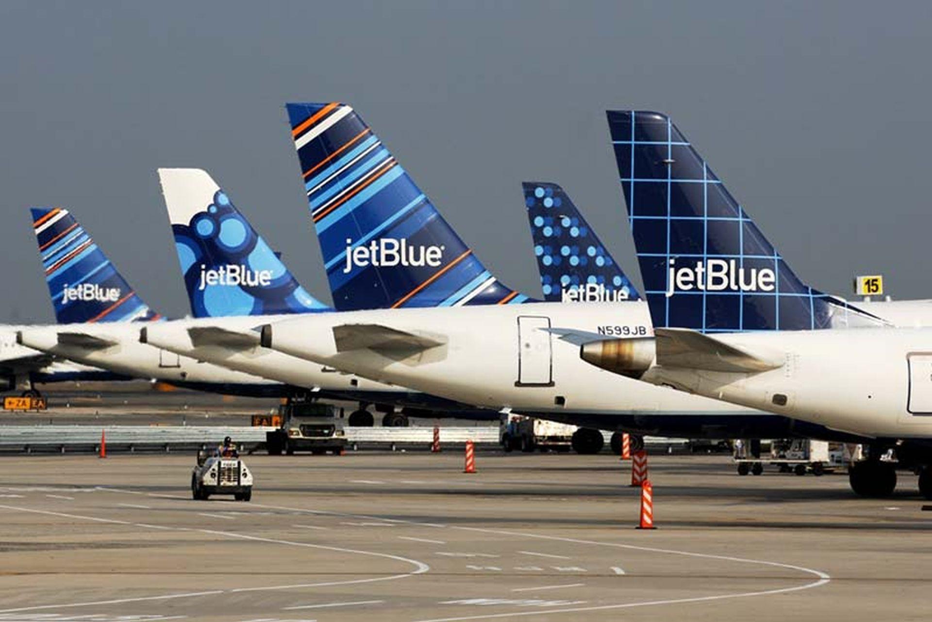 Letadla JetBlue v NewYorku. Foto: JetBlue