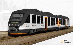 Vizualizace Alstom Lint v barvách pro Pardubický kraj. Foto: Leo Express