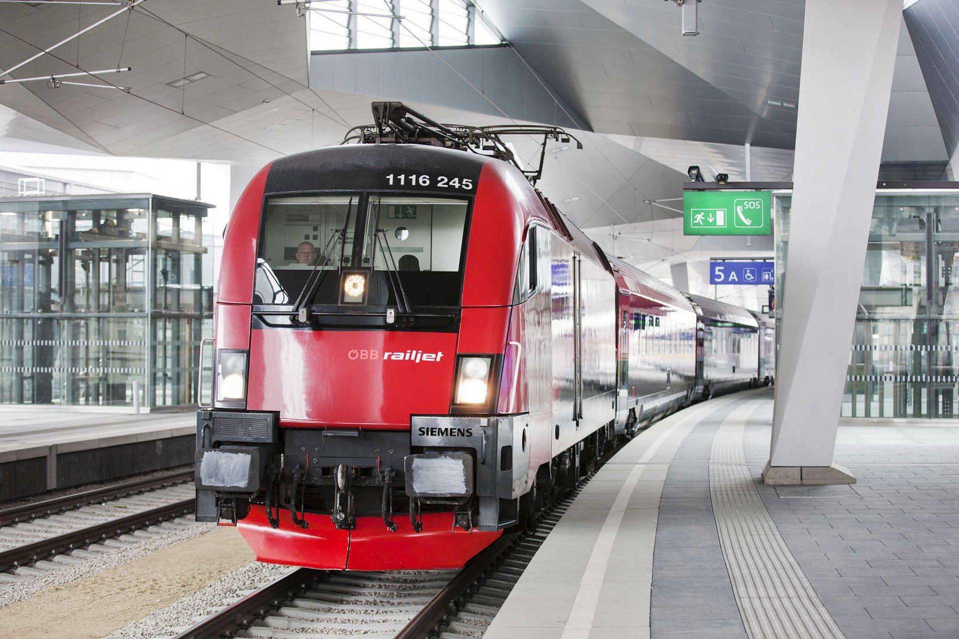 Railjet na nádraží ve Vídni. Foto: ÖBB / Harald Eisenberger