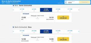 Ceny letenek mezi Brnem a Berlínem. Foto: Ryanair
