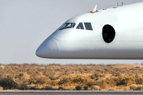 Kabina pravého trupu letadla. Foto: Stratolaunch