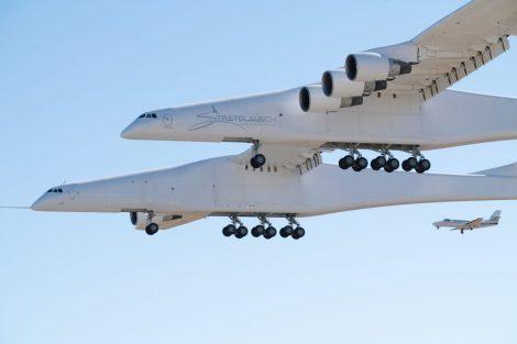 První let největšího letadla světa. Foto: Stratolaunch