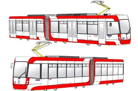 Budoucí barevná podoba tramvají EVO2 pro Brno. Foto: DPMB