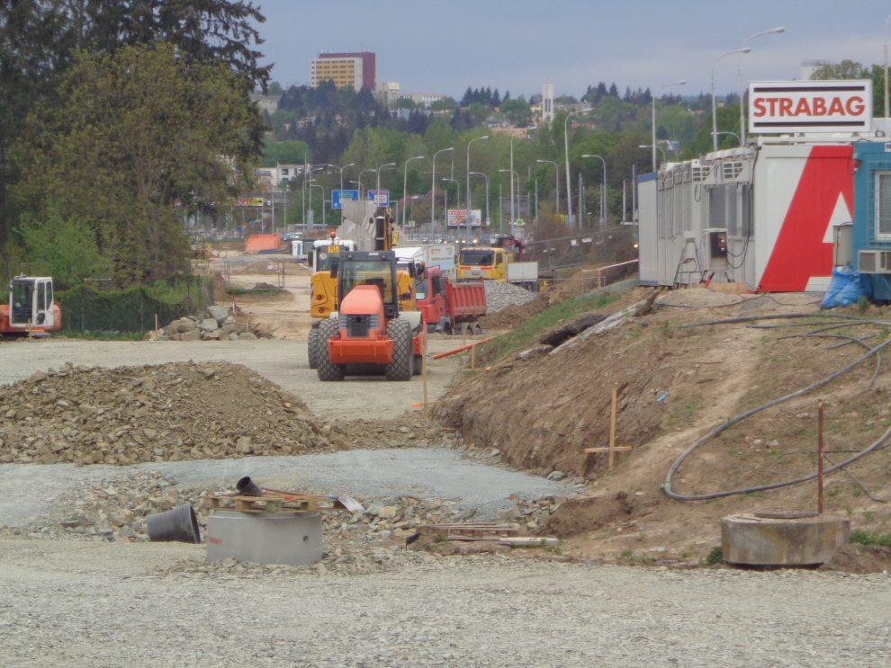 Stavba další části brněnského okruhu v Žabovřeské. Foto: ŘSD