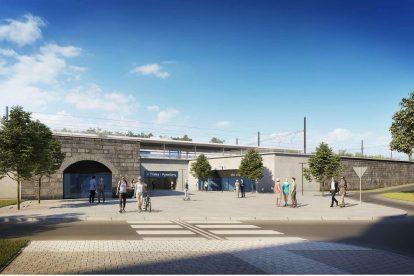 Vizualizace nové podoby stanice Praha - Vysočany. Foto: SŽDC