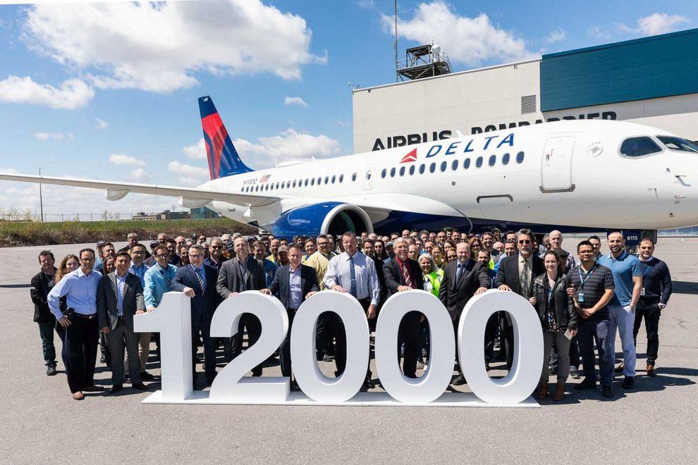 Předání jubilejního airbusu společnosti Delta Air Lines. Foto: Airbus