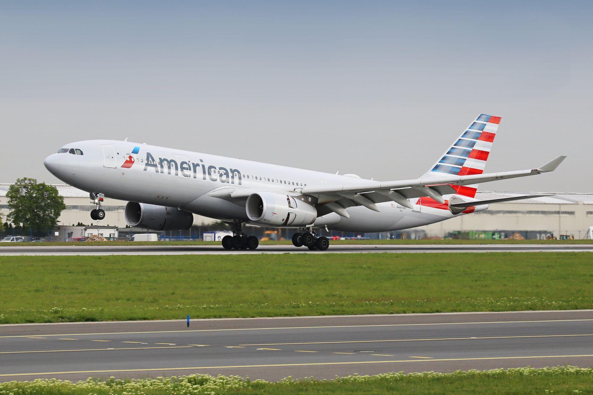 Airbus A330-200 společnosti American Airlines. Foto: Letiště Praha