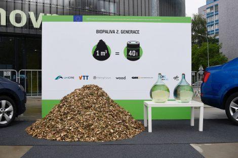 Biopalivo vyrobené ze štěpky. Foto: Unipetrol