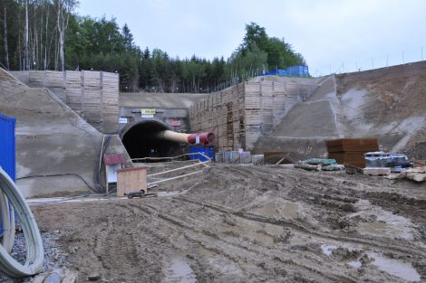 Ražba tunelu Deboreč. Autor: SŽDC