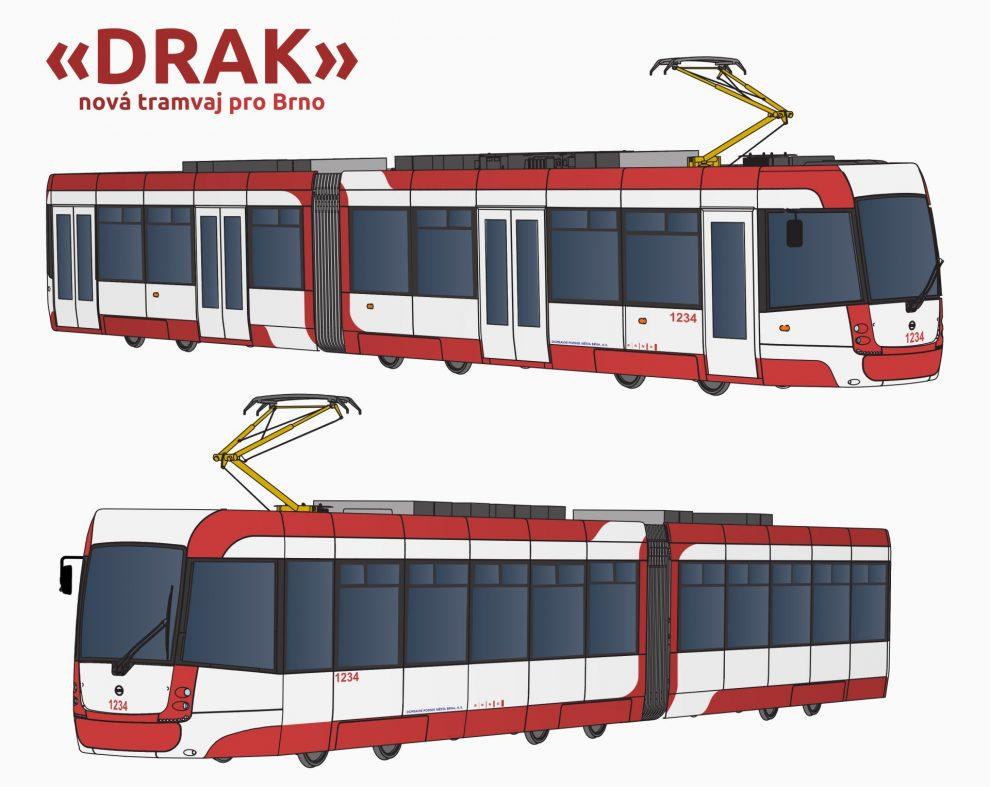 Brněnské tramvaje ponesou název Drak. Pramen: DPMB