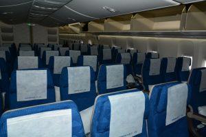 Ekonomická třída v 747-8i Korean Air. Celkem se do ní vejde 314 cestujících. Foto: Michal Holeček