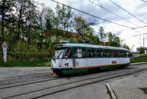 Tramvaj z Liberce do Jablonce v Proseči nad Nisou. Foto: Jan Sůra