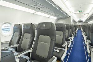 Nové sedačky v ekonomické třídě Lufthansy. Foto: Lufthansa