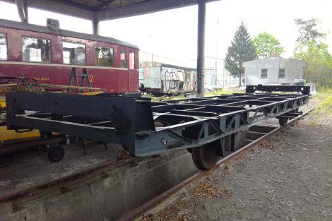Opravený rám motorového vozu M130.104. Foto: Pardubický spolek historie železniční dopravy