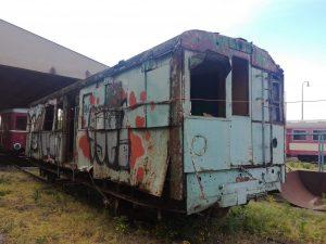 Motorový vůz M130.104. Foto: Pardubický spolek historie železniční dopravy