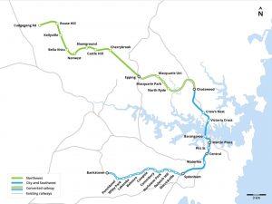 Mapa nového metra v Sydney. Foto: strata8/wikimedia commons