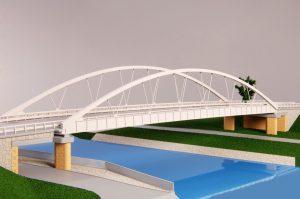 Nový most Vrbno, model. Pramen: ŘVC