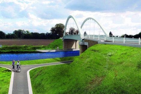 Nový most Vrbno, vizualizace. Pramen: ŘVC
